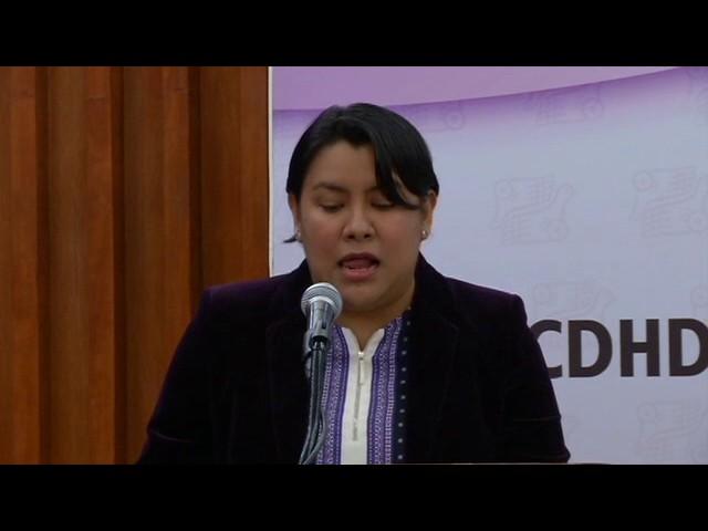 Discurso de la Dra. Perla Gómez en la entrega de Reconocimiento Hermanas Mirabal 2016