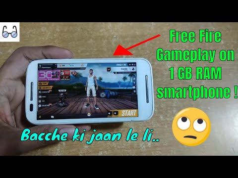 Garena Free Fire Gameplay On 1 GB RAM Android Phone !!! 😬