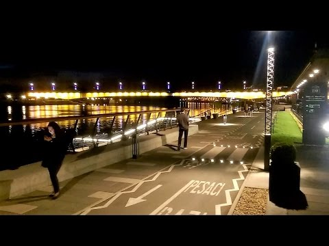 Belgrade Waterfront, Sava Promenade, Serbia - At Night