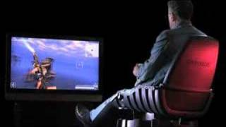 Gyroxus Full Motion Video Game Chair - Warhawk Game Play