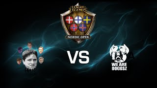 We Are Doggsz vs. Kappa V2 - Grand Final - Game 1 - League of Legends Nordic Open
