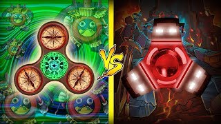 Minecraft | FIDGET SPINNER DO DEUS DO TEMPO vs SPINNER DO HEROBRINE ↔ Batalha de Spinner ↔