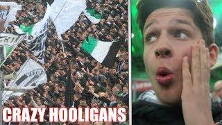 MEETING CRAZY HOOLIGANS IN GERMANY Borussia Mönchengladbach vs Paderborn