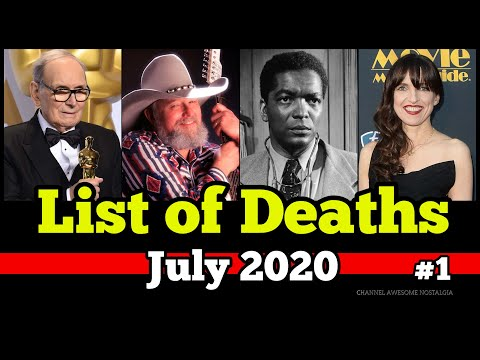 List of Deaths July 2020 Week 1