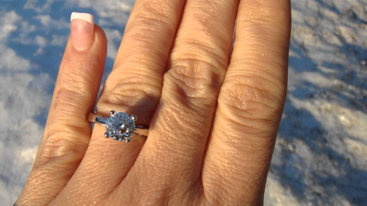 M4h04616 Solitaire 102 Facet Cut Amazing Almost $5k Less Then Zales And  Higher Clarity