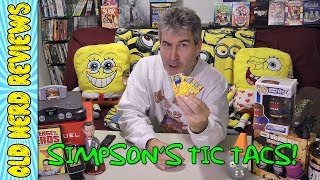The Simpsons Tic Tac Mints REVIEW | HAPPY NATIONAL DOUGHNUT DAY! 🍩