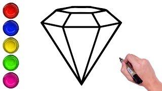 diamond step kite draw shapes easy method