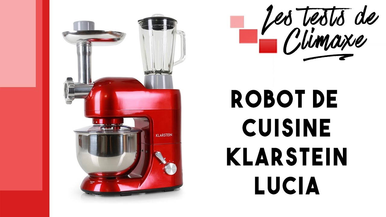 test d 39 un robot de cuisine multifonctions klarstein lucia. Black Bedroom Furniture Sets. Home Design Ideas