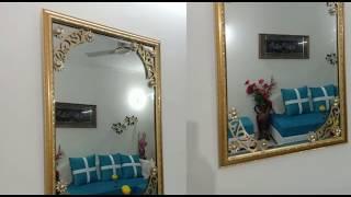 DIY Mirror Decoration | How to make use of waste materials #diy #diyhomedecor