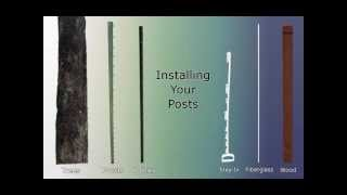 2. Installing Posts for an Electric Fence