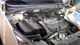 видео Замена масла в двигателе Шевроле Круз  (1,6 л и 1,8 л)