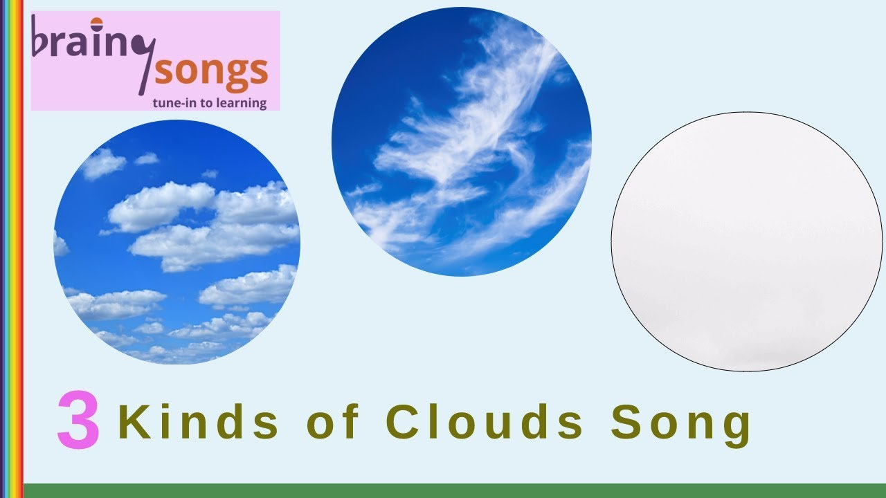3 KINDS OF CLOUDS SONG | Science Music Video for Kids
