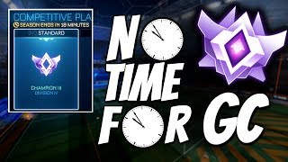 GOING FOR GC IN THE LAST MINUTES OF SEASON 6 (Rocket League Gameplay)