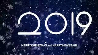 Merry Christmas and Happy New Year 2019 New Year& 39 s Greeting