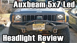 Auxbeam 5x7 Led Headlight Jeep XJ Review