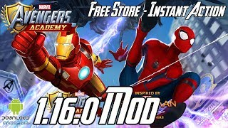 MARVEL Avengers Academy 1.16.0 Mod (Free Store, Instant Action, Free Upgrade) APK & iOS