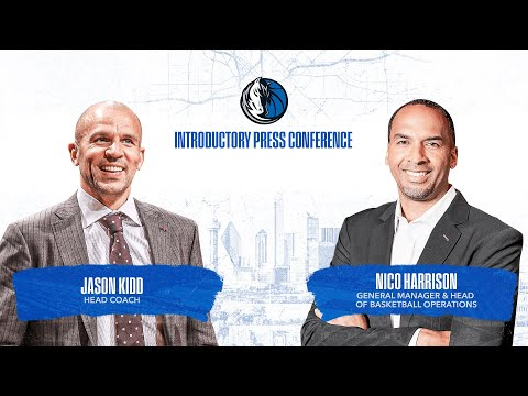 Jason Kidd and Nico Harrison Introductory Press Conference