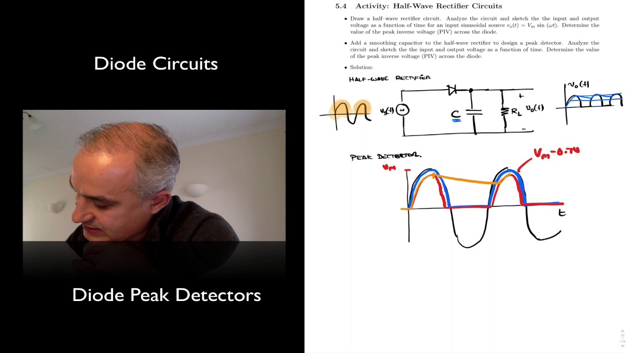 Diode Peak Detector Youtube Example Smoothing Capacitor Circuit