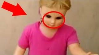 10 Video đáng sợ quay được cảnh búp bê tự cử động và di chuyển | Video kinh dị!
