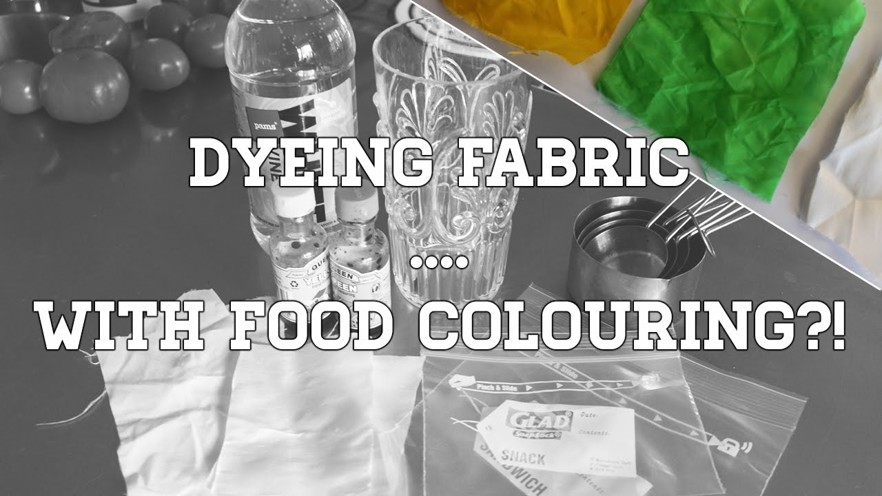 DYEING FABRIC ... WITH FOOD COLOURING?! - YouTube