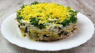 Салат з курячим філе та чорносливом. Рецепт святкового салату