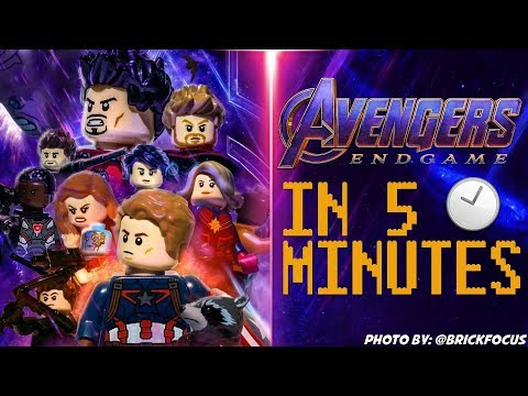 MARVELS Avengers Endgame In 5 Minutes [LEGO STOP MOTION]