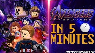 MARVELS Avengers Endgame In 5 Minutes [LEGO STOP MOTION]