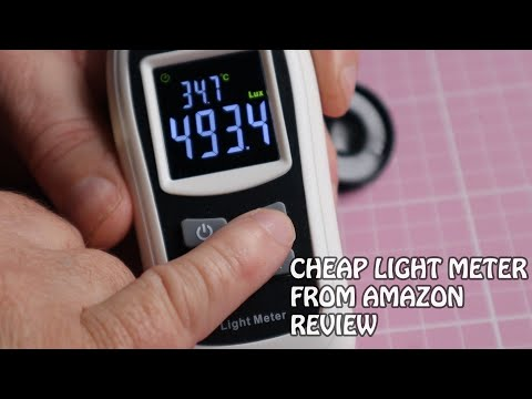 Test & Review of a cheap lux (light) meter from Amazon