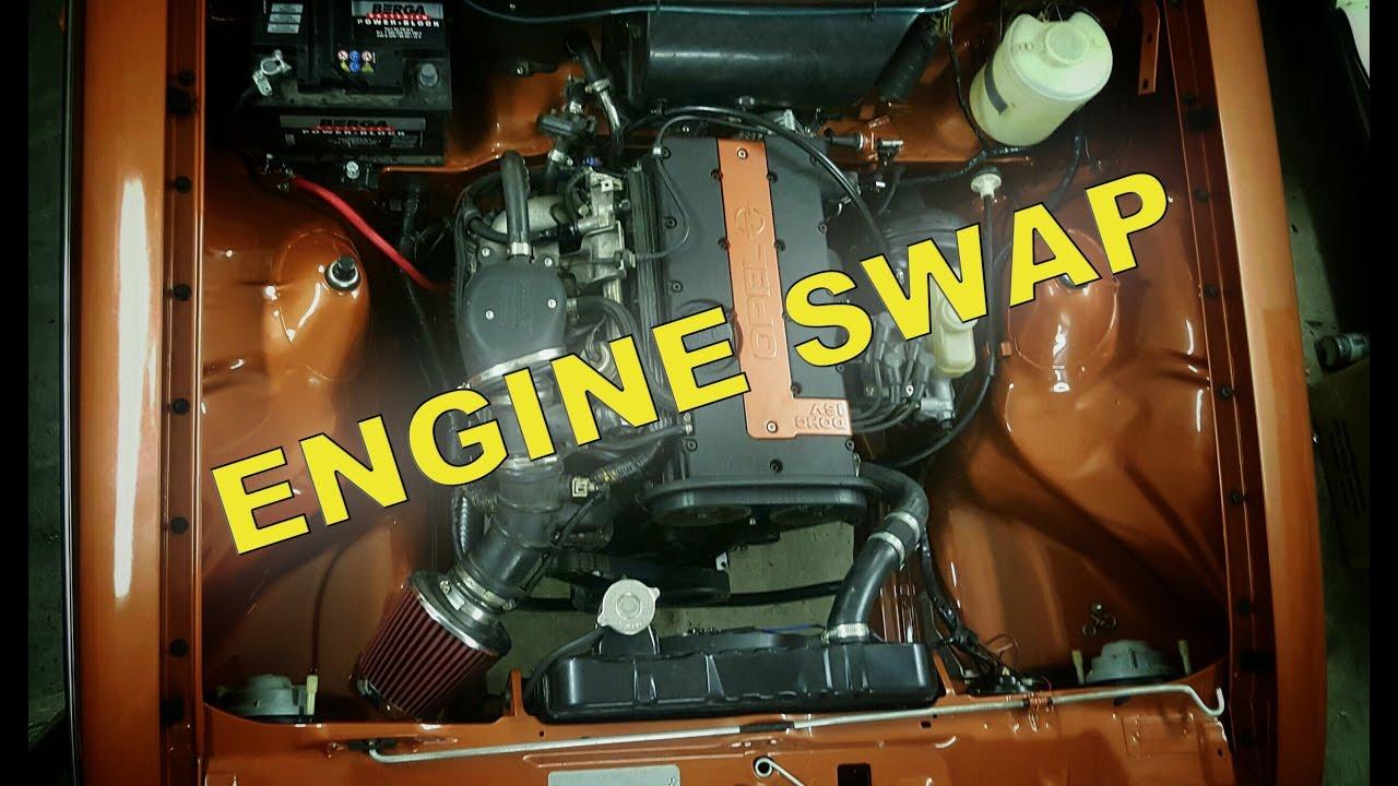 Opel Kadett C 2 0 16v walk around Guide, Engine Swap ombyg/build/umbau