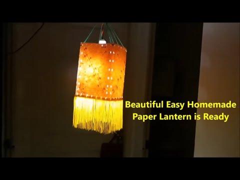 Easy Paper Lantern Making At Home | Paper Lantern | Easy Paper Lantern DIY