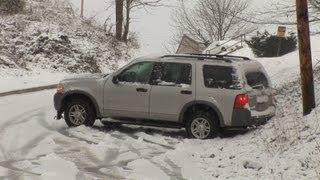 HD Cars Slide Down Icy Hill - Charleston, WV
