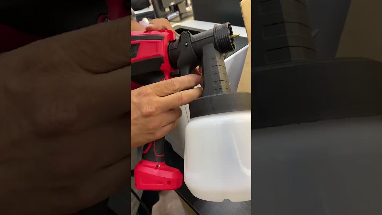 電動噴漆槍更換噴頭教學