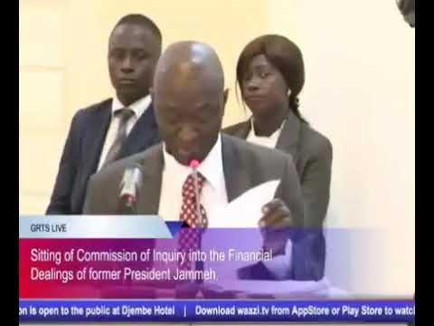 Gambia Commission Of Enquiry - Ebrima Sallah (MD, Trust Bank) Testifies