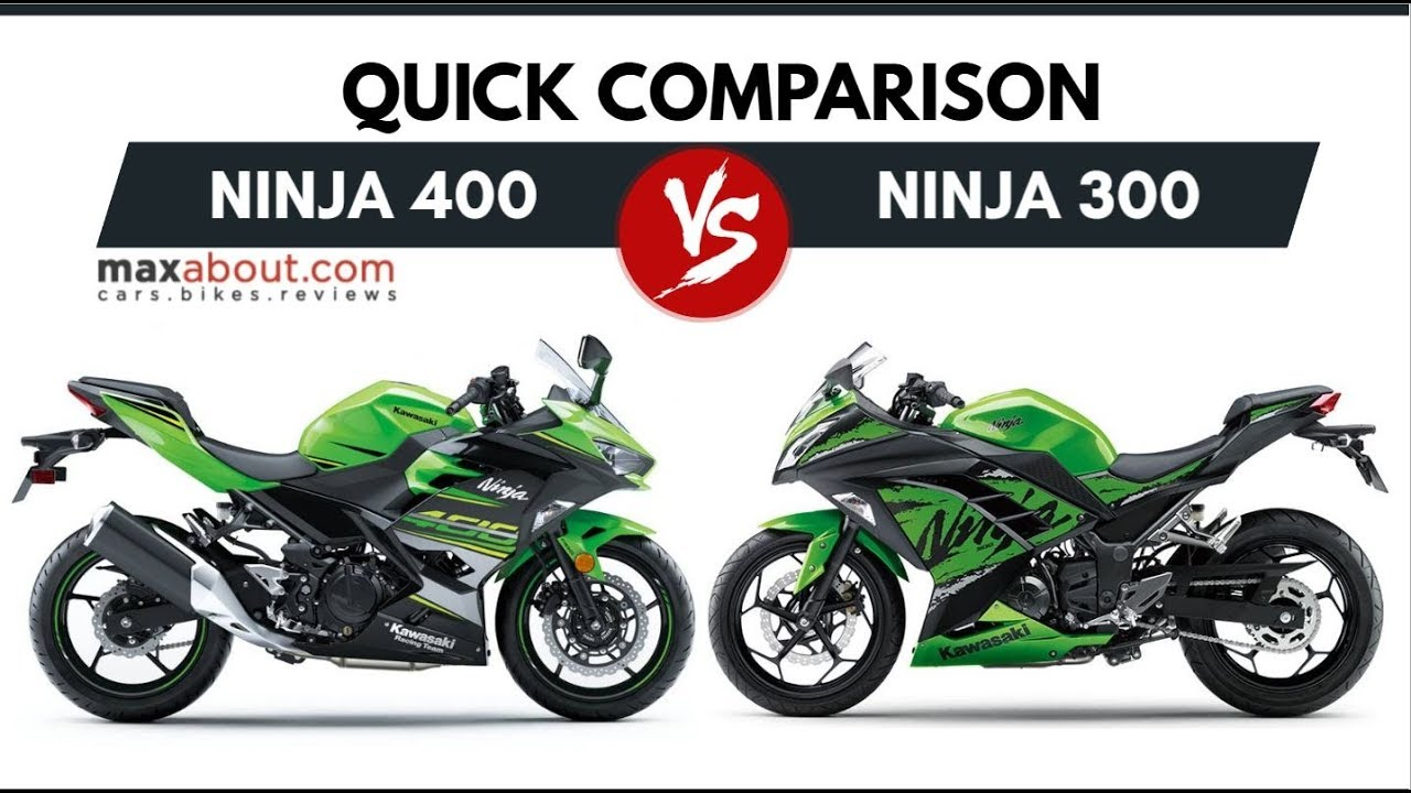 kawasaki ninja 400 vs new ninja 300 quick comparison. Black Bedroom Furniture Sets. Home Design Ideas