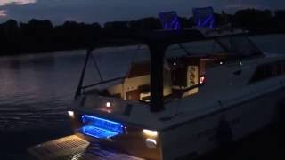 Princess 25 Yacht  in the night