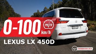 2018 Lexus LX 450d 0-100km/h & engine sound