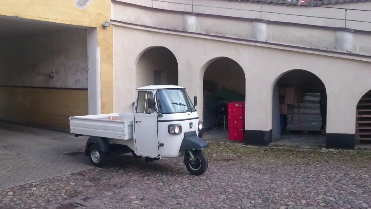 piaggio ape classic 400 new 2016 k retur 2 kyle dk youtube. Black Bedroom Furniture Sets. Home Design Ideas