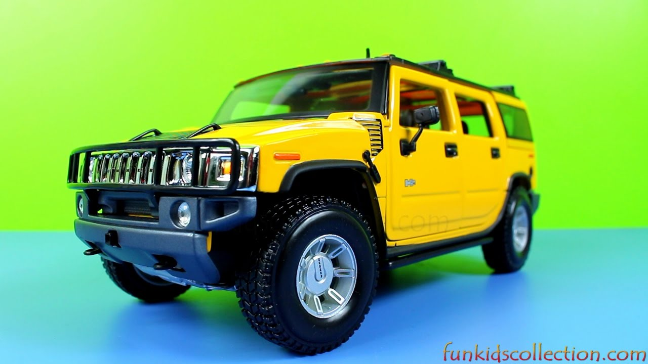 Hummer 2003 H2 Suv Yellow Cast 1 18 Model Car By Maisto Funkidscollection