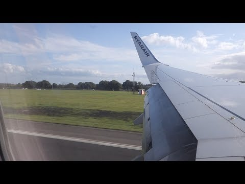 X-wind Landing Dublin runway 28 with Ryanair B737-800