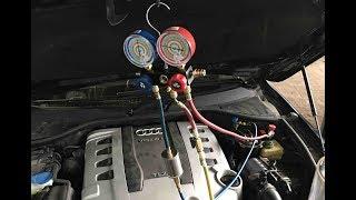 AUDI Q7, кондиционер сдулся! Ремонт трубок под левым крылом!