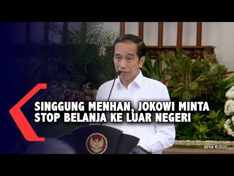 Singgung Menhan, Jokowi Minta Rem Dulu Belanja Ke Luar Negeri