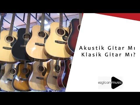 Klasik Gitarla Akustik Gitar arasındaki fark