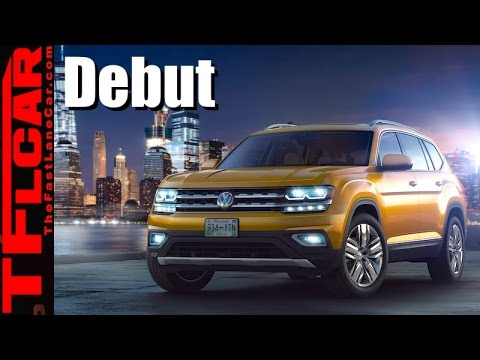 2018 VW Atlas 7-Passenger SUV Is Finally Here - Live World Debut