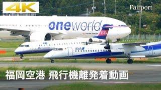 [4k] [飛行機] 福岡空港 飛行機ウォッチング Fukuoka Airport Airplane Watching