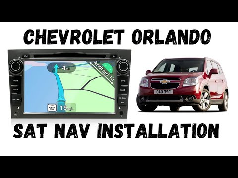 Chevrolet SatNav  Android installation ,wiring on Chevy Orlando 2011 установка головного устройства