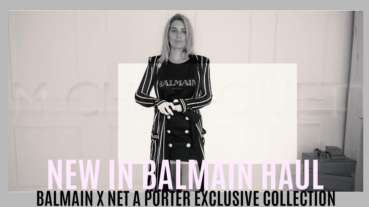c7a63dbc NEW IN BALMAIN HAUL | EXCLUSIVE BALMAIN x NET A PORTER | IAM CHOUQUETTE