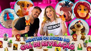 EXPERIMENTANDO OS DOCES DO CHA REVELAÇÃO COM MEU NOIVO!!