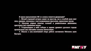Русский язык. Выпуск 16. Правописание НЕ с разными частями речи. Часть 2.
