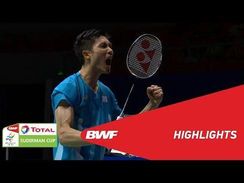 TOTAL BWF SUDIRMAN CUP 2019 | MS | CHINESE TAIPEI VS INDONESIA | BWF 2019