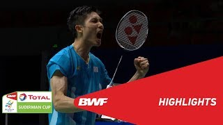 TOTAL BWF SUDIRMAN CUP 2019 | MS | CHINESE TAIPEI VS INDONESIA | BWF 2019